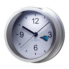 betta fish clock aquarium silver home decor