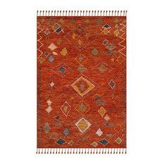Safavieh Kenya Hand Knotted Rug, Red/Multi, 8'x10'