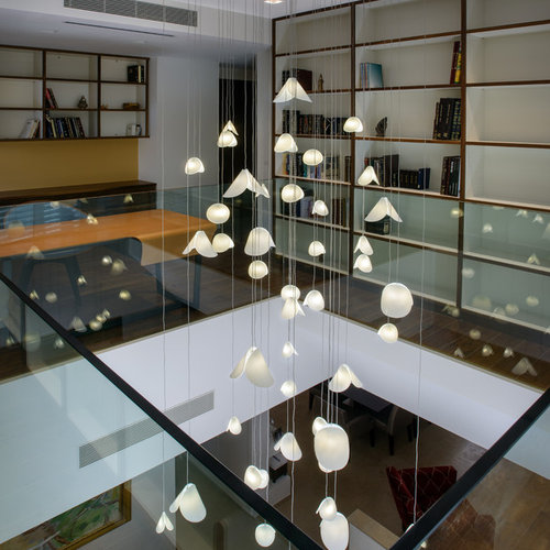 Contemporary foyer lighting, modern entry chandelier for high ...