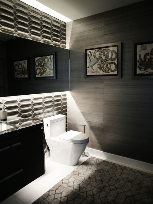 Modern Powder Room Design Ideas Renovations Photos With