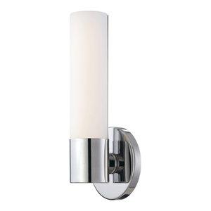 "Kovacs P5041-PL Saber Single Light 4-3/4"" Wide Bathroom Sconce with Etched Opal"