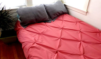 Custom Pintuck Duvet in Coral - Queen Size