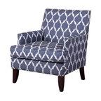 Abbyson Living Amelia Velvet Arm Chair Cream Armchairs