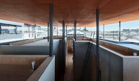四畳半キューブを組み合わせた、開放的な住まい