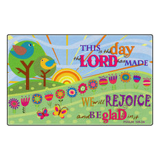 This Is The Day The Lord Has Made Rug, 7'6x12'
