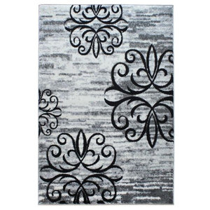 Vogue VG36 Rug, Black and Grey, 200x290 cm