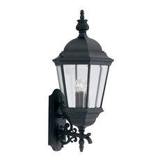 "Designers Fountain 2952-BK 3 Light 13"" Cast Aluminum Wall Lantern - Black"