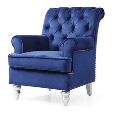 Accent Arm Chair, Blue