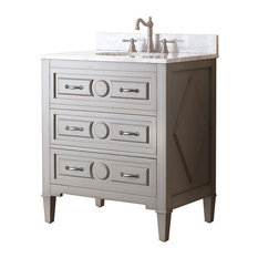 31 in. Single Sink Vanity in Grayish Blue Finish