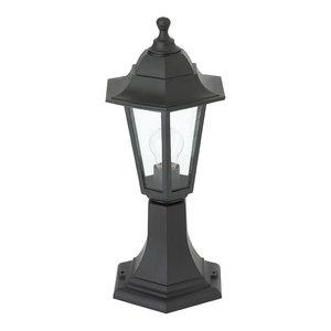 Bayswater IP44 60 W Outdoor Pedestal Lantern, Black