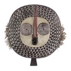 Novica Festival Sun African Wood Mask