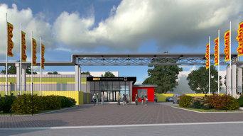 Дизайн и благоустройство территории для шинного завода Pirelli