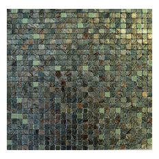 "FLEXIPIXTILE - 11.38""x11.38"" Peel and Stick Backsplash Tile, ""Camo"", Single Tile - Wall and Floor Tile"