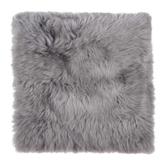 """17"""" x 17"""" Natural, Sheepskin Seat/Chair Cover, Gray"""