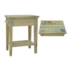 "Grand Isle Sun Bleached Wood Finish Chairside Table 18 1/4x13x23 1/2"""