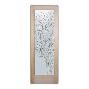 Interior Glass Door Sans Soucie Art Glass Wispy Tree Pinstripe