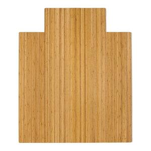 "Anji Mountain Bamboo Roll-Up Chairmat, 44""x52"" With Lip"