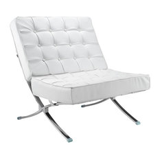 Fine Mod Imports Pavilion Chair In Leather White