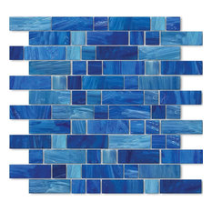 """Aegean, 1""""x1"""" and 1""""x3"""", Glass Tile"""