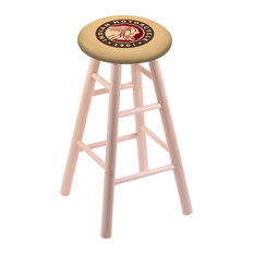 Maple Counter Stool Natural Finish With Indian Motorcycle Seat 24-inch