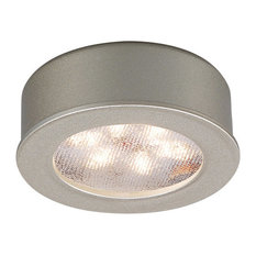 WAC Lighting LED Button Light, Brushed Nickel, Round, 3000k Soft White