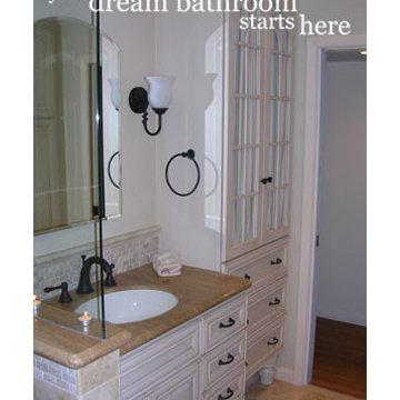 Old world charm Guest Bath in Saratoga, CA