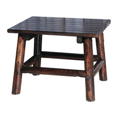 Awesome Leigh Country   Char Log Square End Table   Outdoor Side Tables