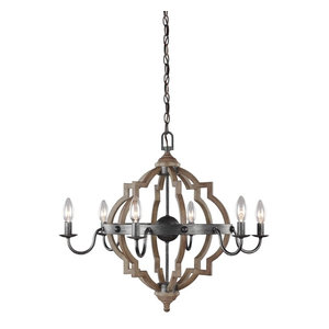 Sea Gull Lighting 6-Light Chandelier, Stardust