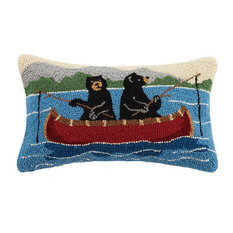 Bears Fishing Hook Pillow