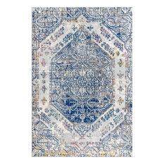 "JONATHAN Y Modern Persian Boho Vintage Cream/Blue Area Rug, 5'3""x7'7"""