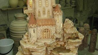 Водопады из керамики