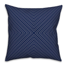 Navy Modern Geo 20x20 Throw Pillow