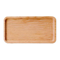 "Long Style Household Wooden Dessert Plate, Dried Fruit Trays, 9.8""x5.1"""