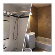 Bathroom before/ after pictures