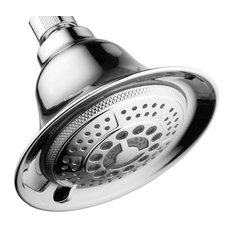 All-Chrome 5-Setting Water Temperature Controlled Color-Changing LED Shower Head