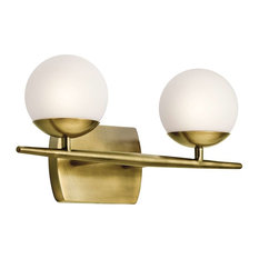 Kichler   Kichler Jasper Bathroom Light, Natural Brass   Bathroom Vanity  Lighting