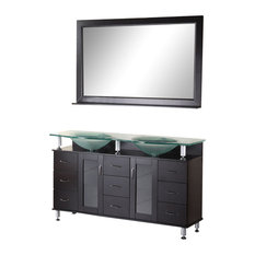 "Huntington 61"" Double Sink Vanity Set, Espresso"