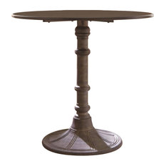 Round Transitional Metal Bistro Dining Table, Bronze