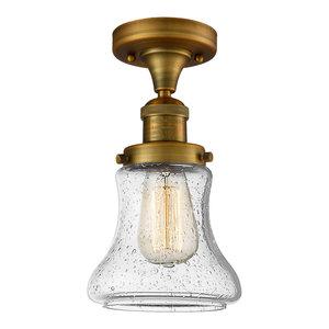 Innovations 201F-PC-G191-LED 1 Light Vintage Dimmable LED Semi-Flush Mount Polished Chrome