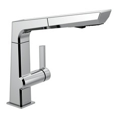 Delta Pivotal Single Handle Pull Out Kitchen Faucet, Chrome, 4193-DST