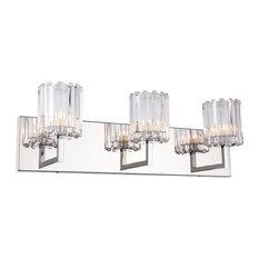 Woodbridge Lighting Candice 3-Light Bath LED, Swizzle Stick Cylinder