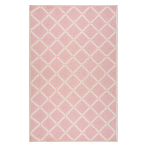 Hand Hooked Simplicity Vs173 Rug, Pink, 5'x8'