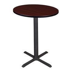 """Cain 30"""" Round Cafe Table, Mahogany"""