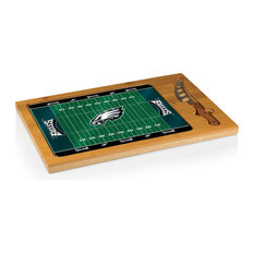 Philadelphia Eagles Icon Cutting Board and Tray and Knife Set, Football Design