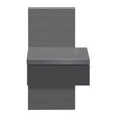 Brooklyn Grey Bedside Table With Drawer