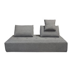 Cloud Lounge Seating Platform With Backrest Supports, Space Gray Fabric