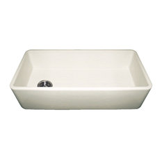 Duet Reversible Fireclay Sink With Smooth Front Apron, Biscuit