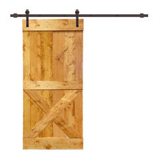 "TMS Mini X Barn Door With Sliding Hardware Kit, Colonial Maple, 42""x84"""