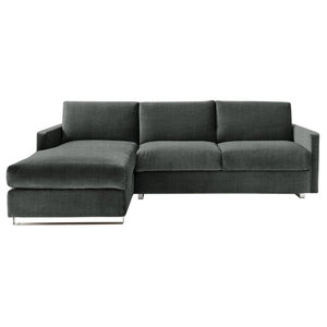 Felix Corner Sofa Bed, Pewter, 3 Seater, Left Hand Facing, Euro King