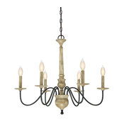 Trade Winds Norwood 6-Light Chandelier in Distressed Wood